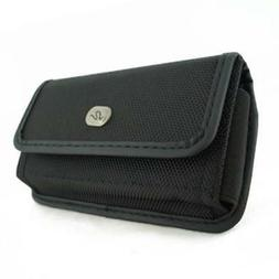 BLACK RUGGED CANVAS CASE COVER PROTECTIVE POUCH BELT HOLSTER