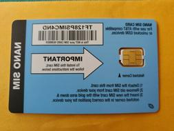 Package of 17, Straight Talk AT&T Compatible NANO Size SIM ,